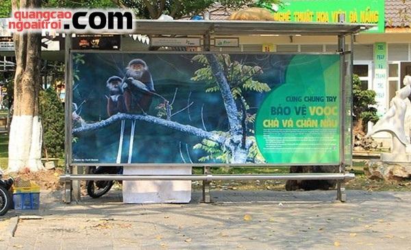 quảng cáo nhà chờ xe bus