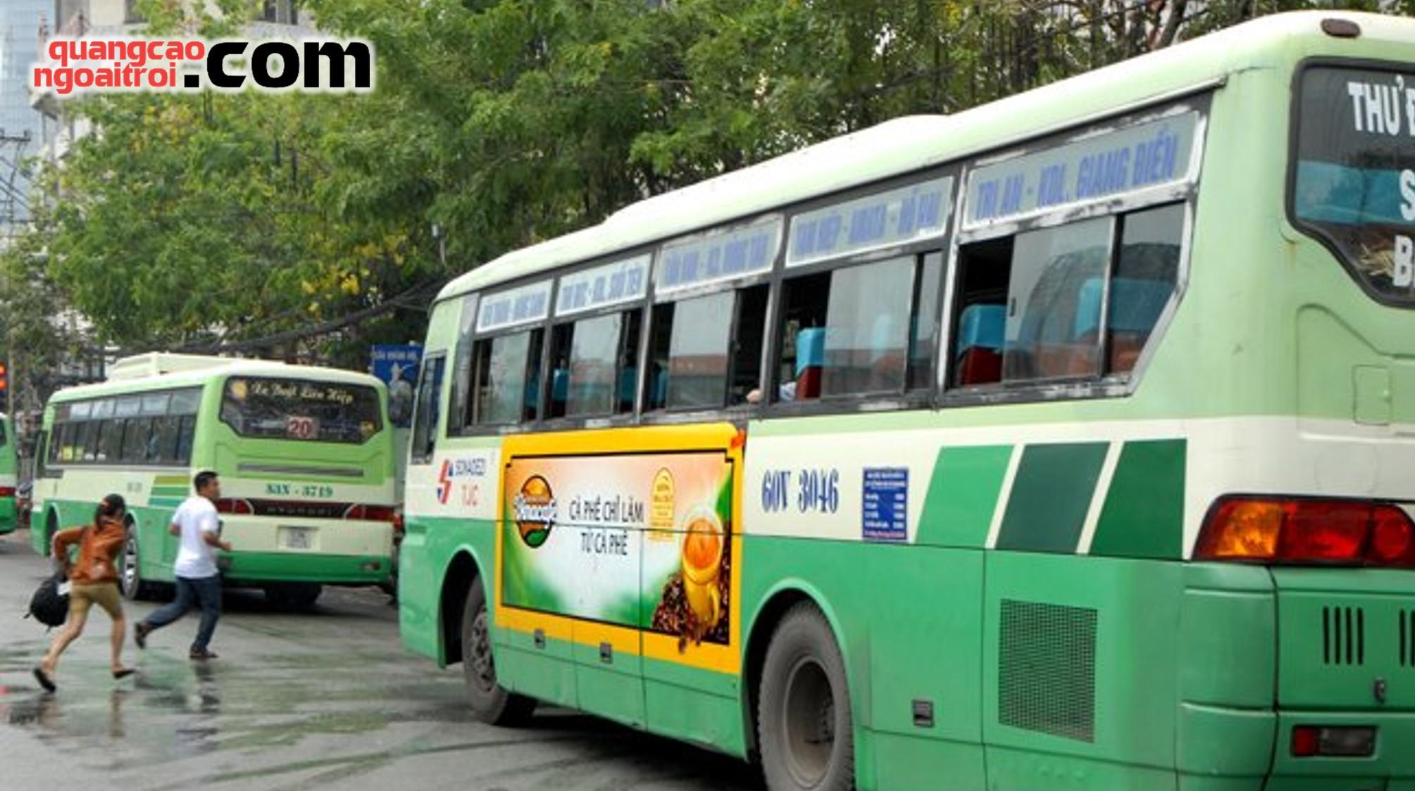 quảng cáo trên xe bus Hồ Chí Minh