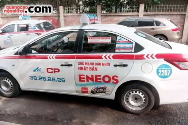 dự án quảng cáo trên taxi của dầu nhớt Eneos