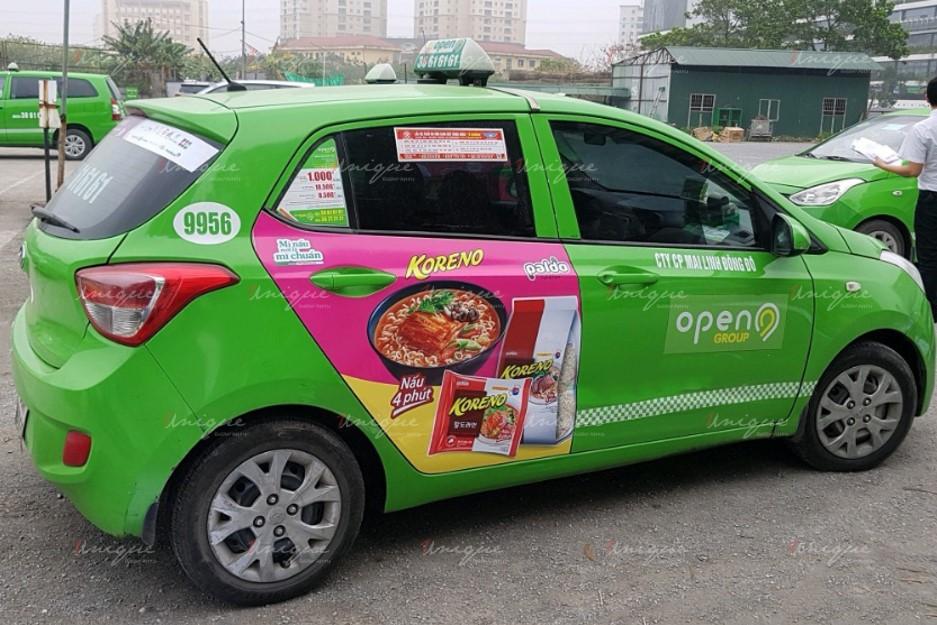 quảng cáo trên xe taxi tại An Giang