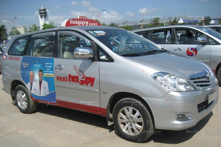 quảng cáo trên xe taxi tại Cần Thơ