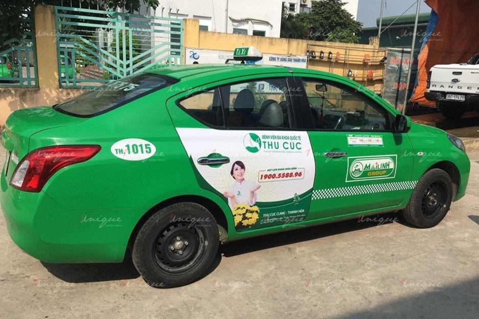 quảng cáo trên xe taxi tại tỉnh Thanh Hóa
