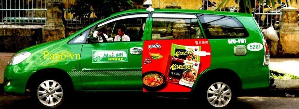 Quảng cáo trên xe Taxi tại Quảng Bình