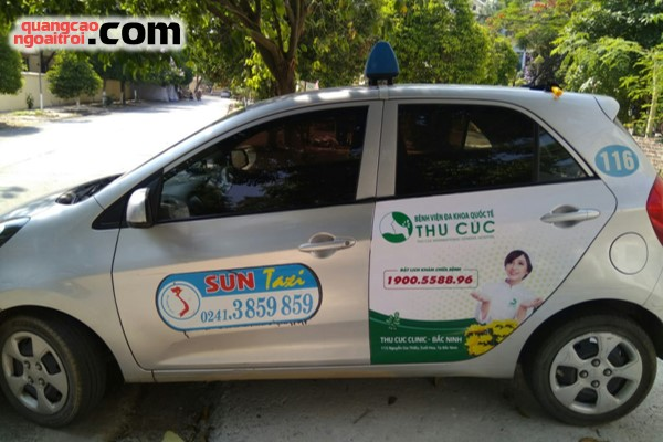 dự án quảng cáo trên taxi của bệnh viện thu cúc