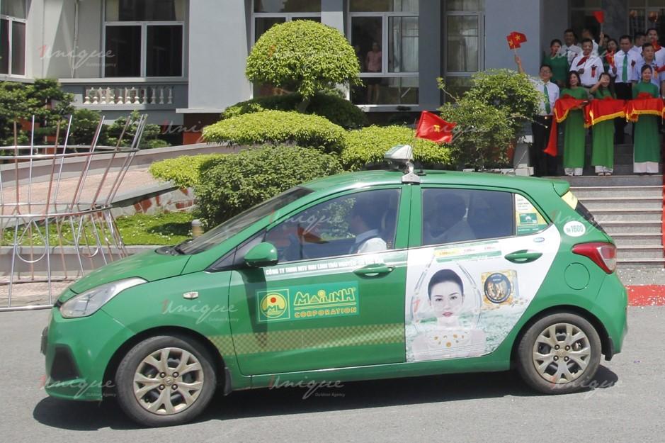 quảng cáo trên taxi tại bắc kạn