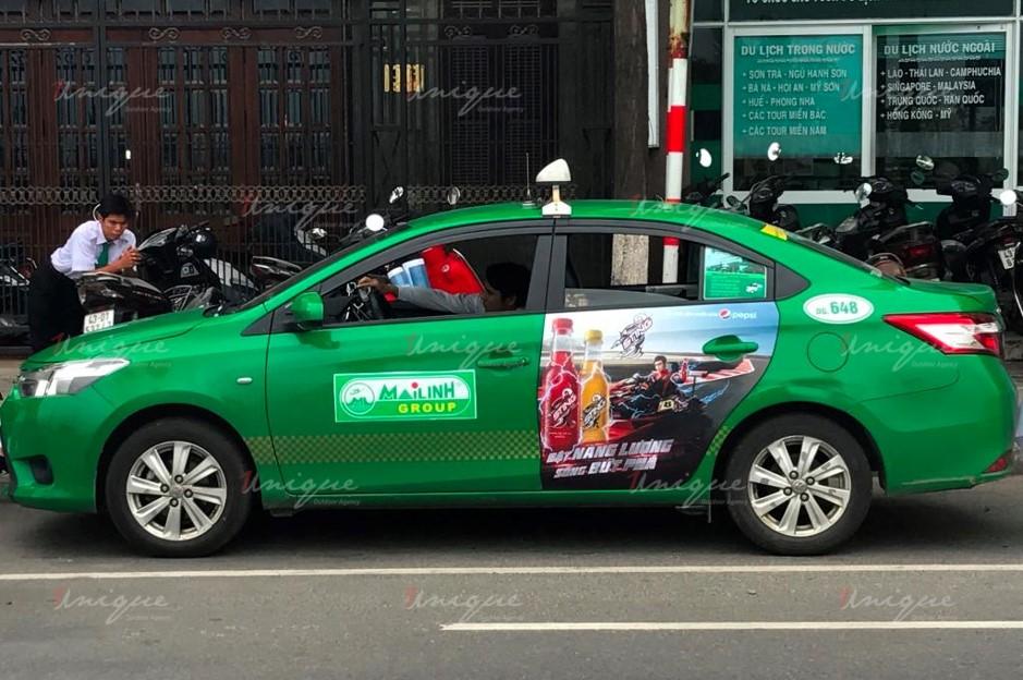 quảng cáo trên taxi tại bạc liêu