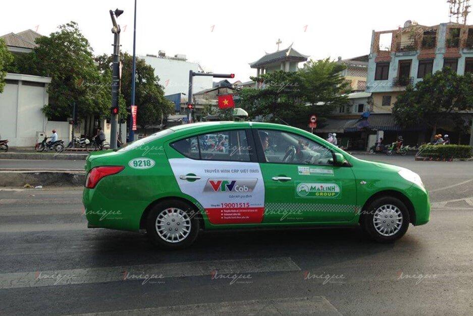 quảng cáo trên taxi tại tỉnh bắc ninh