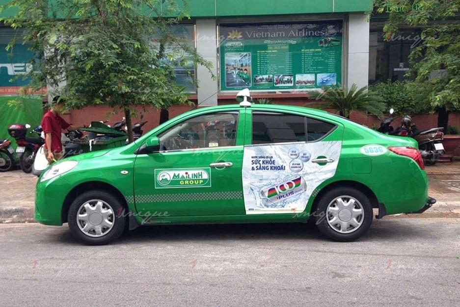 quảng cáo trên taxi tại tỉnh bến tre