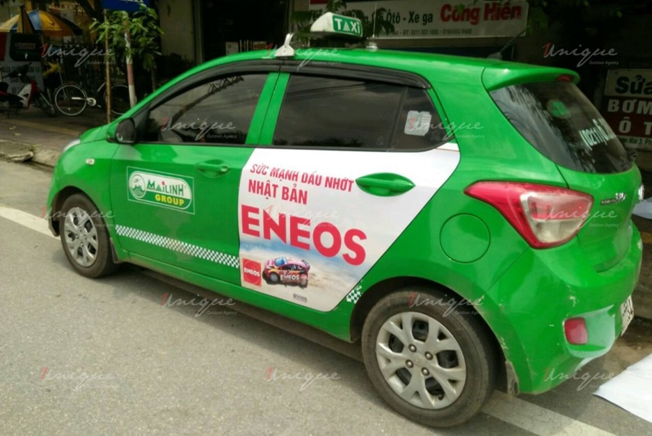 quảng cáo trên taxi tại tỉnh Phú Thọ