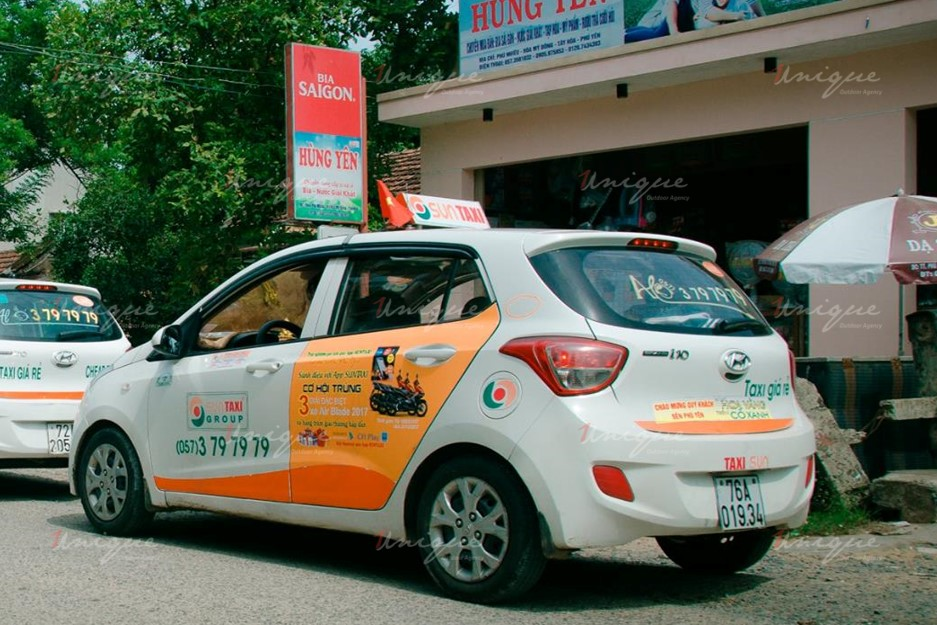 quảng cáo trên taxi tại tỉnh Phú Yên