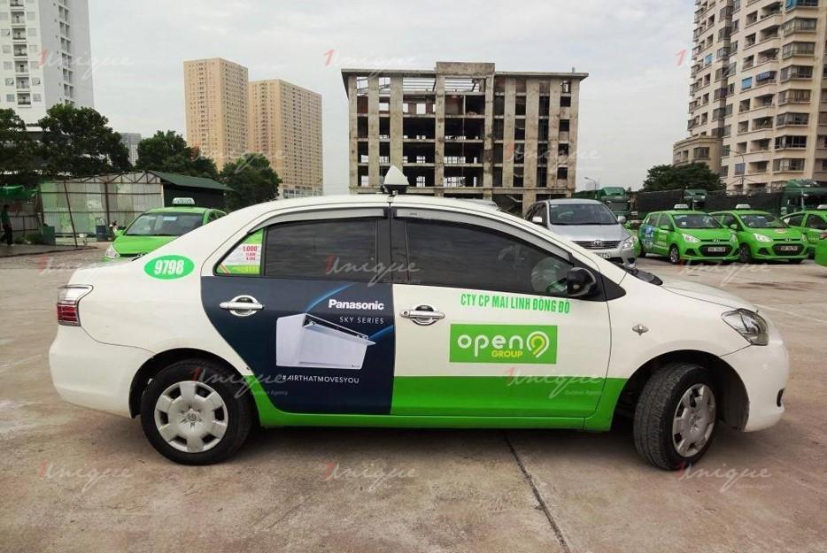 quảng cáo trên taxi tại Vinh Nghệ An