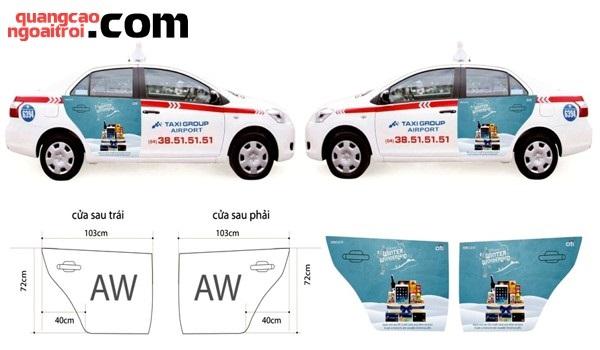 quảng cáo trên taxi Group
