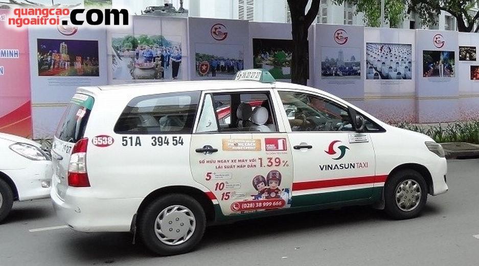 quảng cáo trên taxi Vinasun