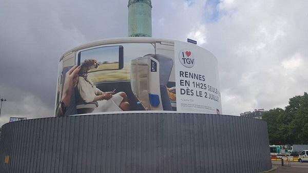 quảng cáo ngoài trời tại pháp