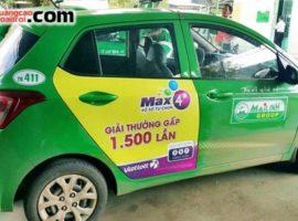 Vietlott quảng cáo trên taxi Mai Linh