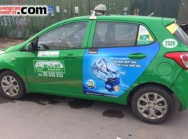 chiến dịch quảng cáo trên taxi của máy bơm Panasonic