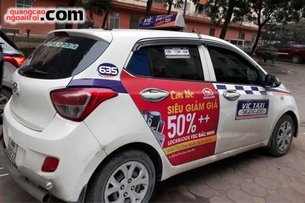 Lock&Lock quảng cáo trên xe taxi