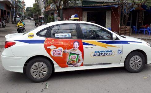 chiến dịch quảng cáo trên taxi của Mì Cung Đình