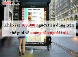 khảo sát ý kiến 100 nghìn người trên thế giới về quảng cáo ngoài trời OOH