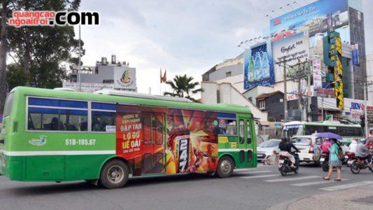 dán quảng cáo tràn kính xe bus