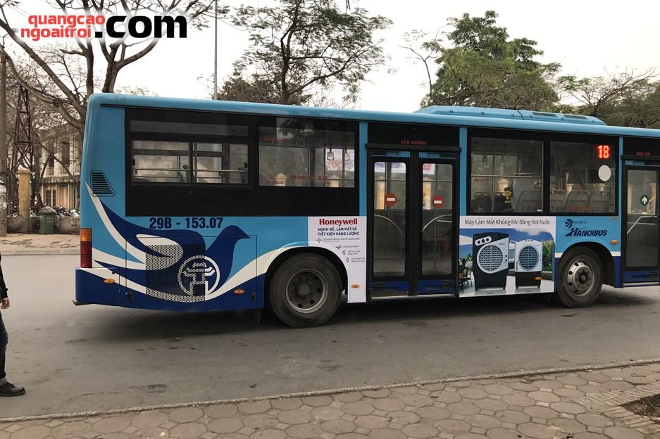 honeywell quảng cáo trên xe bus