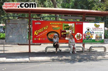 quảng cáo nhà chờ xe bus koreno 1