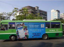 quảng cáo trên bus