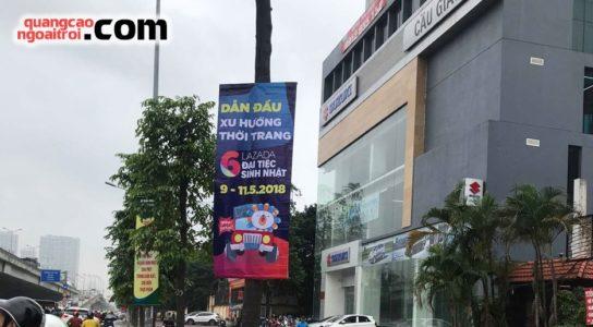 lazada treo banner quảng cáo tại Hà Nội