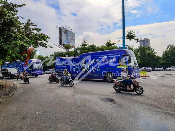 quảng cáo luxury roadshow của samsung galaxy note 9