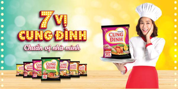 chiến dịch quảng cáo ngoài trời của mỳ cung đình