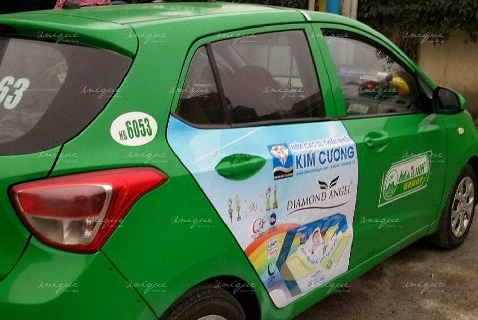 quảng cáo trên xe taxi tại Ninh Bình