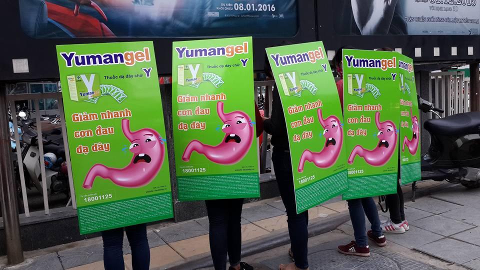 quảng cáo human billboard