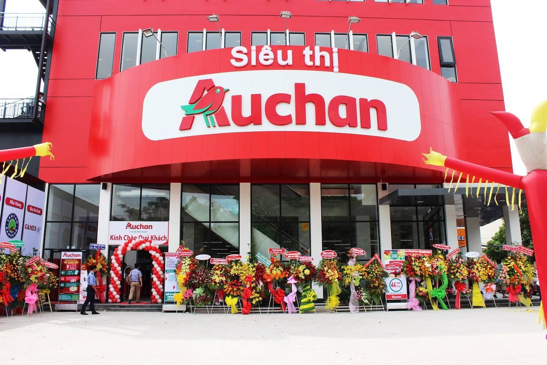 Pano quảng cáo siêu thị Auchan