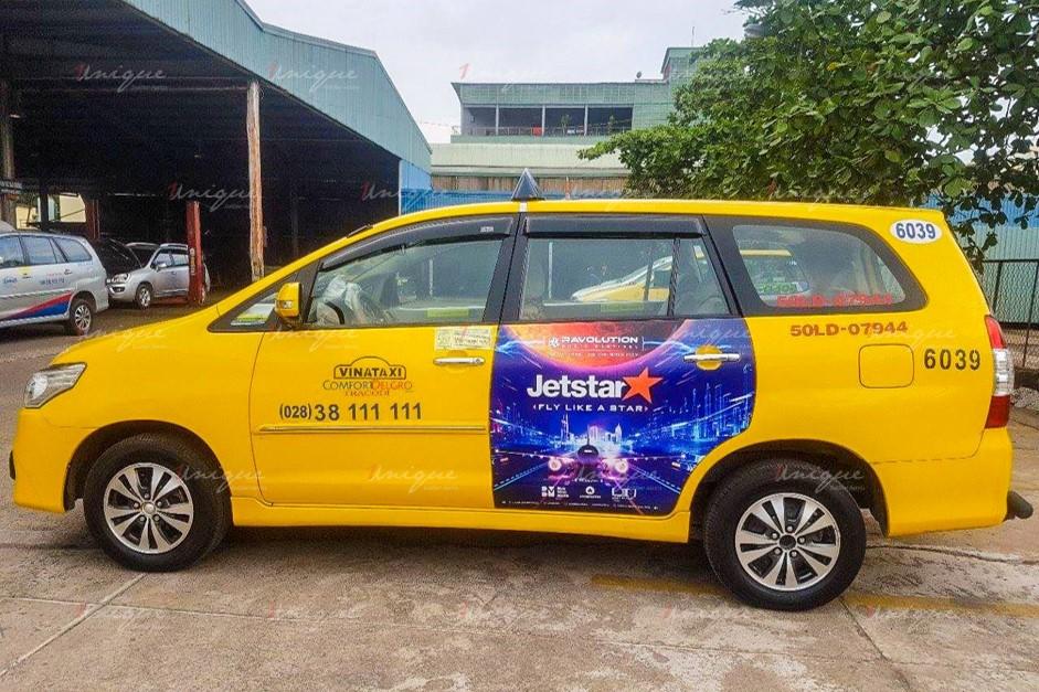 quảng cáo trên xe taxi tại hồ chí minh