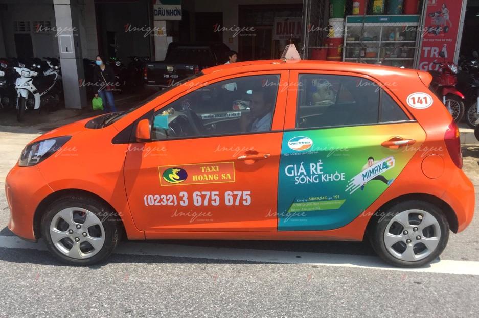 quảng cáo trên xe taxi tại Đà Nẵng
