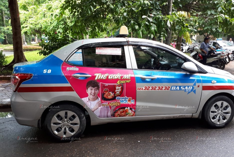 quảng cáo trên xe taxi tại Thái Nguyên
