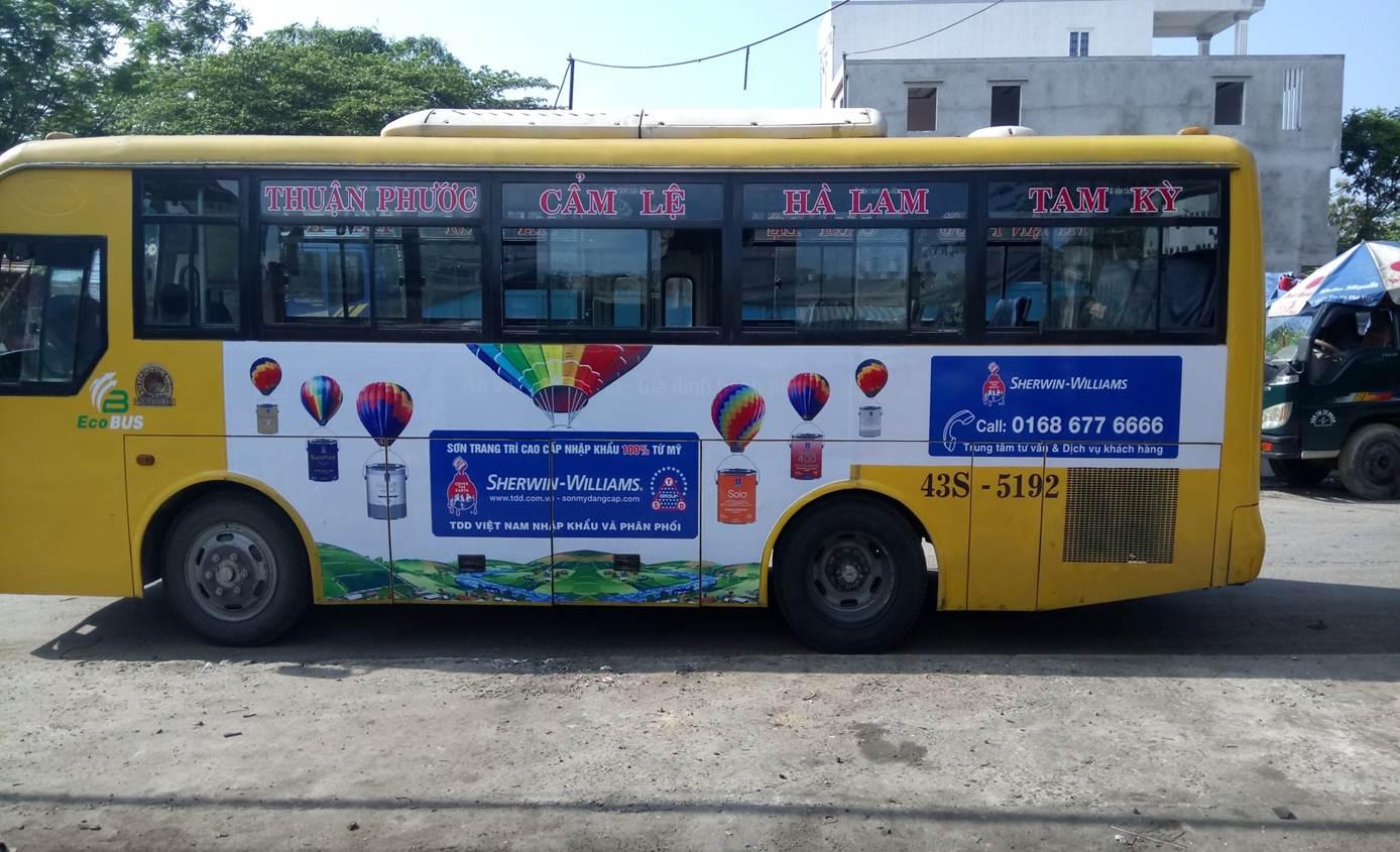 quảng cáo trên xe bus đà nẵng