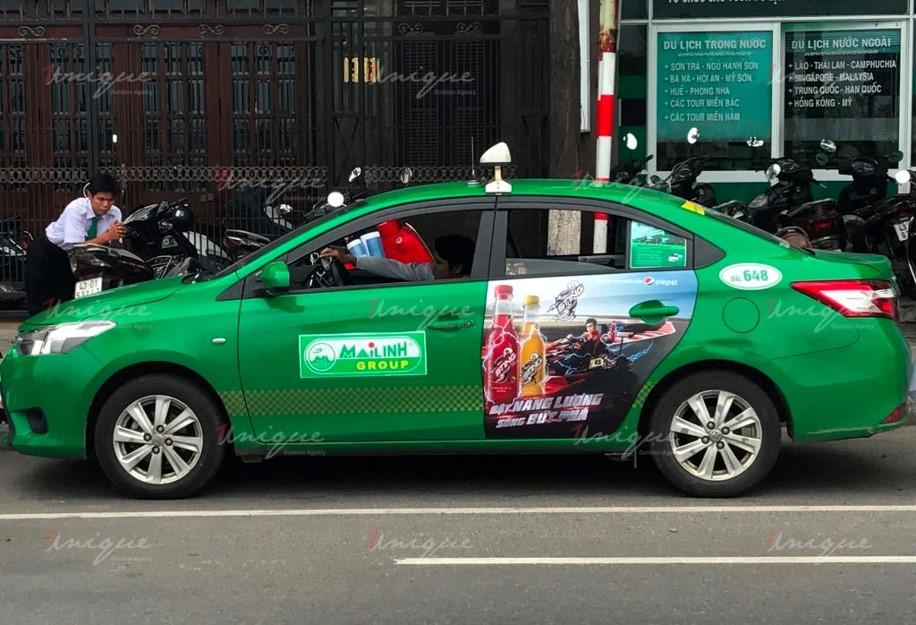 quảng cáo trên taxi tại bắc giang