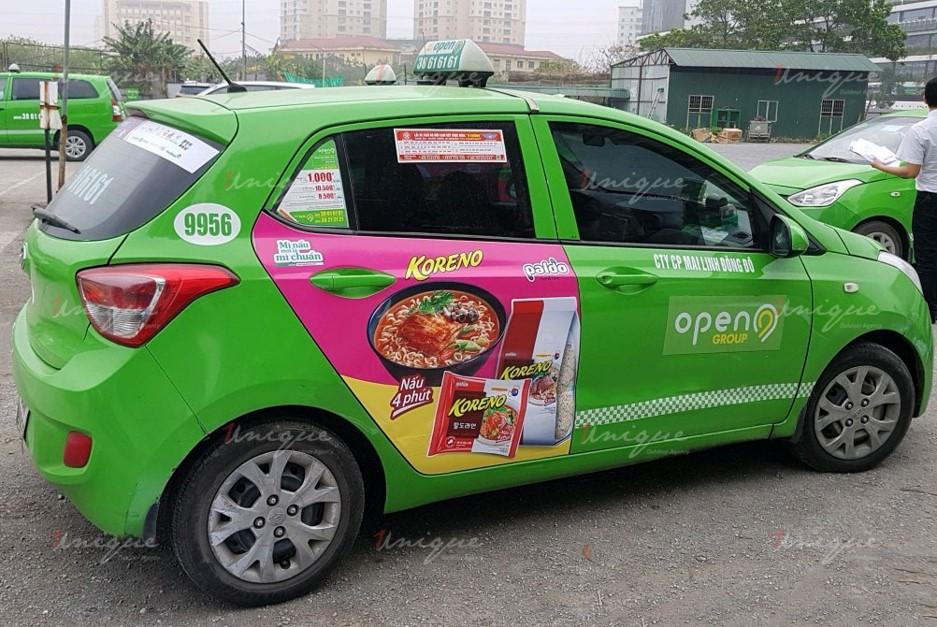 quảng cáo trên taxi tại tỉnh bình dương
