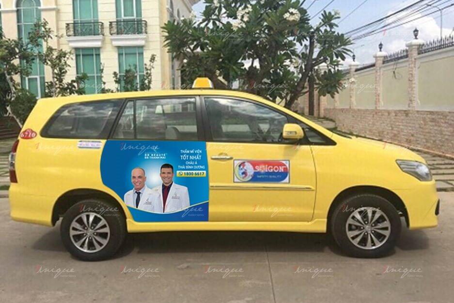quảng cáo trên taxi tại đồng nai