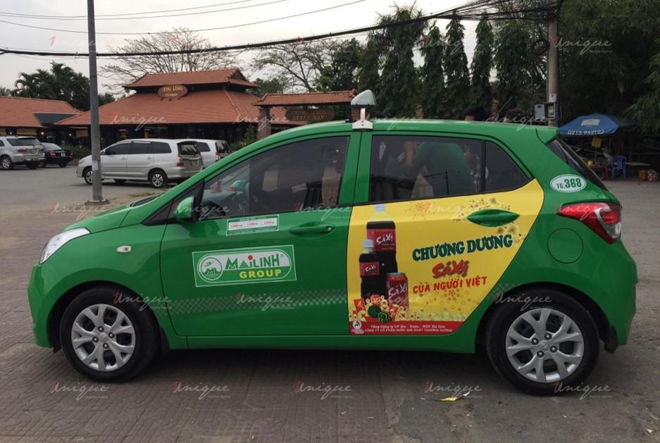 quảng cáo trên taxi tại đồng tháp