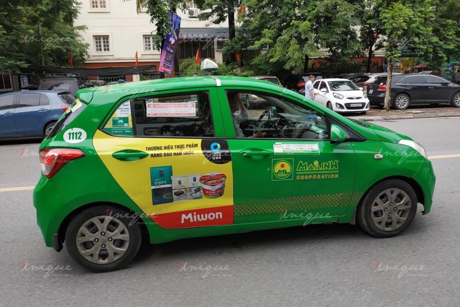quảng cáo trên taxi tại tỉnh Tiền Giang