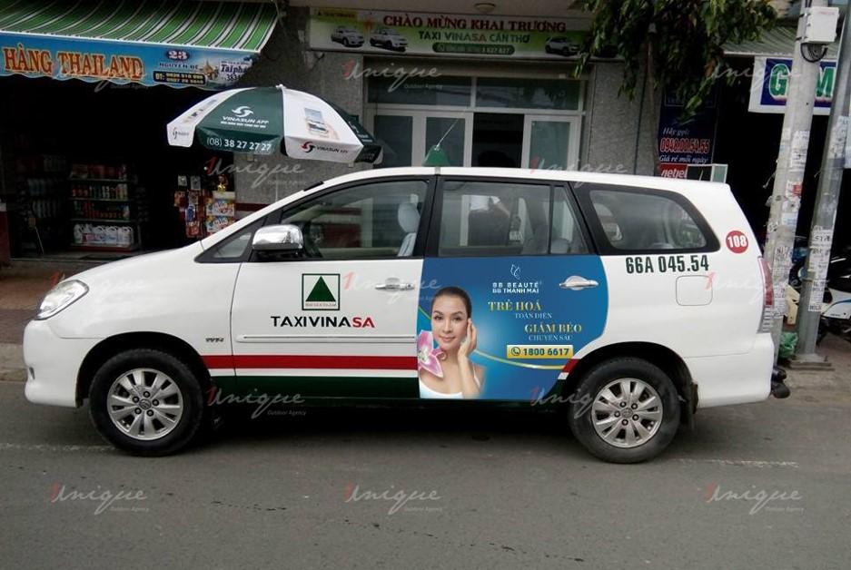 quảng cáo trên taxi tại tỉnh vĩnh long