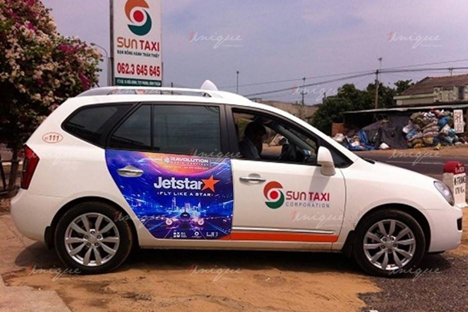quảng cáo trên taxi tại tỉnh Bình Thuận