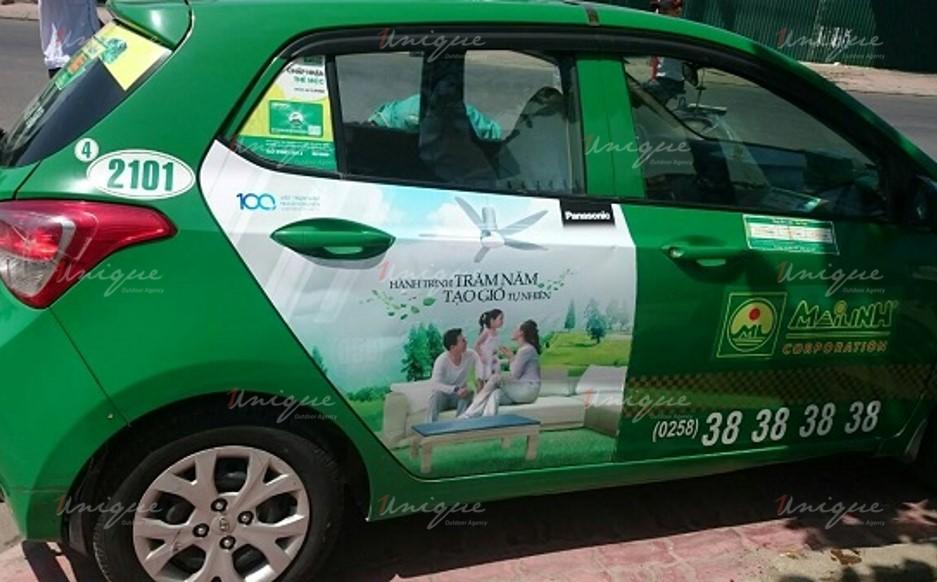 quảng cáo trên taxi tại Nha trang