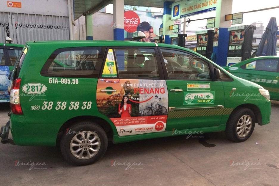 quảng cáo trên taxi tại tỉnh Trà Vinh