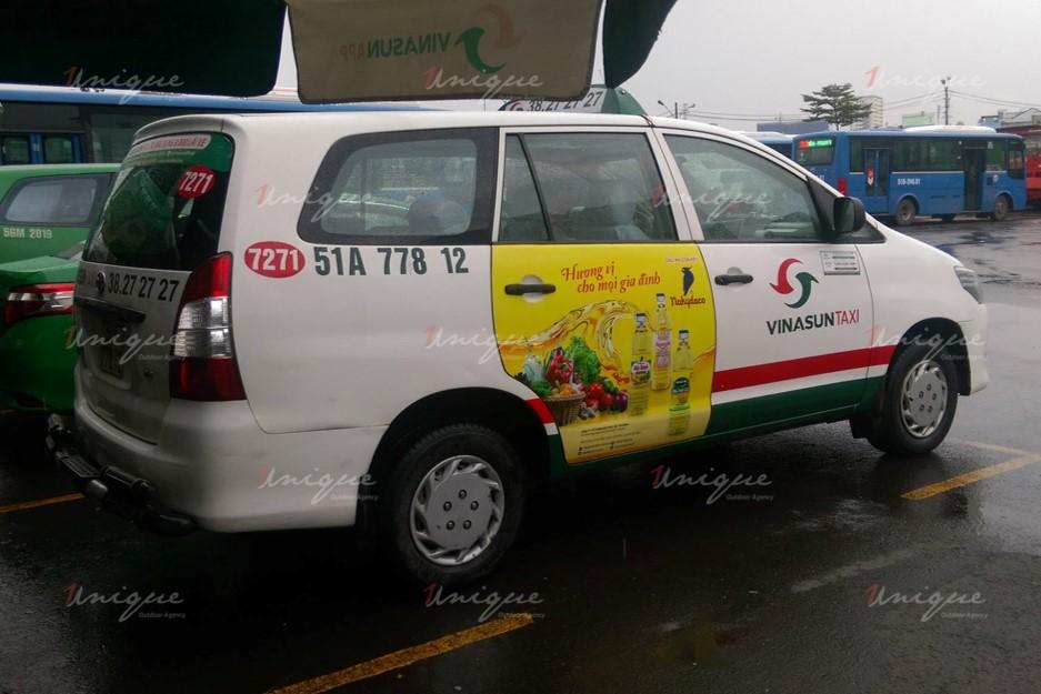 quảng cáo trên taxi tại tỉnh bình phước