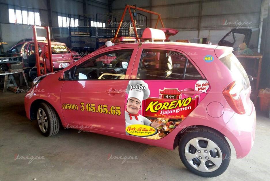 quảng cáo trên taxi tại tỉnh buôn mê thuột