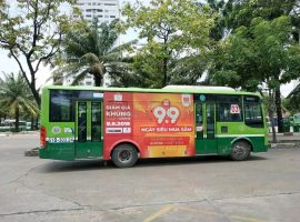 quảng cáo xe buýt cho shopee