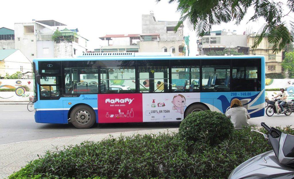 quảng cáo trên xe bus hiệu quả